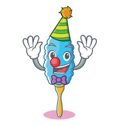 Clown feather duster character cartoon vector