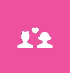 Couple icon vector