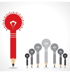 Creative leadership concept with pencil bulbs vector image vector image