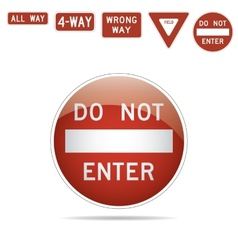 Do not enter traffic signs vector