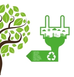 ecology and energy care icon imaage vector image