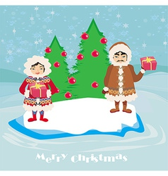 Eskimos holidays vector