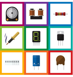 Flat icon technology set of memory display vector
