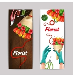 Florist color banner set vector