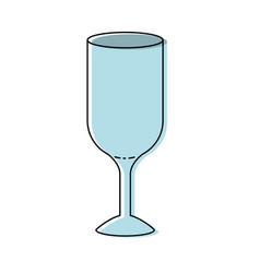 Glass wine colorful watercolor silhouette vector