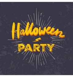 Halloween party invitation card grunge halloween vector