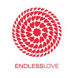 heart logo poster vector image vector image
