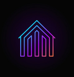 House colorful icon vector