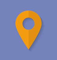 Icon of map pointer Flat style vector image vector image