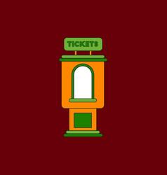 In flat style cinema ticket vector