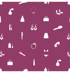 lady stuff needs icons seamless pattern eps10 vector image