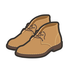 Light brown high shoes vector