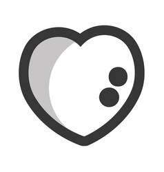 line heart symbol of lova and passion vector image vector image