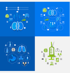 Medicine sticker infographic vector