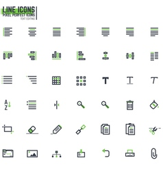 Pixel line text editing alignment vector image vector image