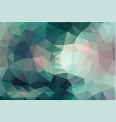 Polygon background dark cyan and pink vector