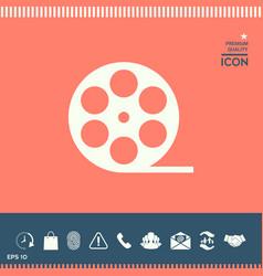 reel film symbol icon vector image