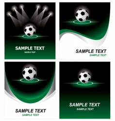 set soccer background vector image