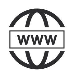 Simple www icon vector