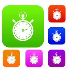 stopwatch set collection vector image