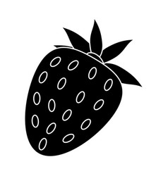Strawberry sweet vitamin nature pictogram vector