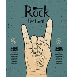Vintage rock festival poster vector