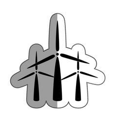 Windmills energy alternative icon vector