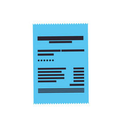 invoice sheet document vector image