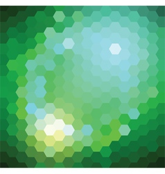 Green hexagonal background vector
