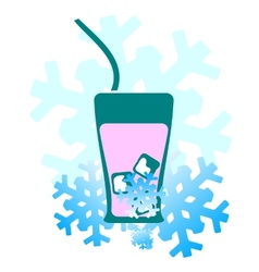 Background cold drinks vector