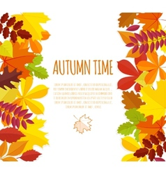 Banner with autumn foliage vector