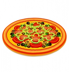 Tasty pizza vector