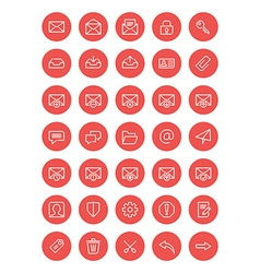 Thin line mail icons set for web and mobile apps vector