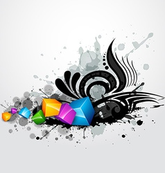 grunge style vector image