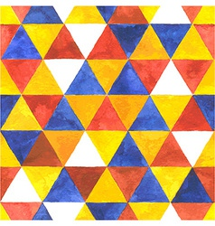 Watercolor triangular seamless pattern vector