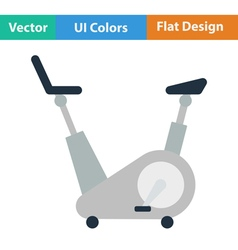 Flat design icon of exercise bicycle vector