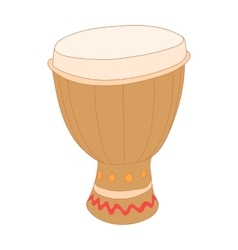 Drum of aborigines icon cartoon style vector