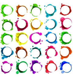 Abstract colorful speech bubble EPS 8 vector image