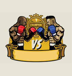 Boxing fight tournament vector