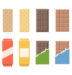 chocolate and wafer icon vector image vector image