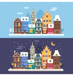 Christmas City Banners vector image vector image