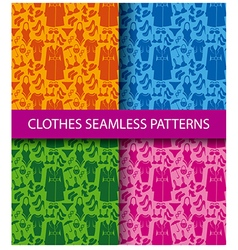 clothes seamless pattern vector image