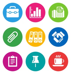 color business icons vector image vector image