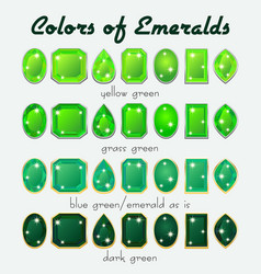 colors of emerald vector image vector image