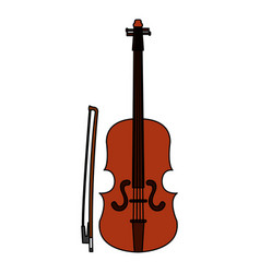 Fiddle instrument isolated icon vector