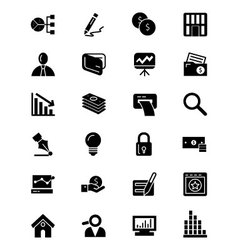 Finance Solid Icons 6 vector image vector image