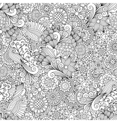Full frame outline of elegant seamless pattern vector