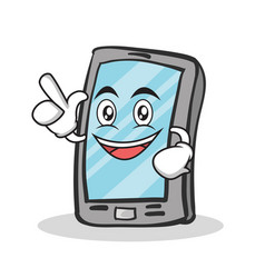 have an idea smartphone cartoon character vector image vector image