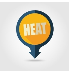 Heat pin map flat icon summer vacation vector