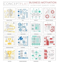 Infographics mini concept business motivation vector image vector image